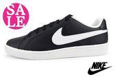 NIKE滑板鞋 Court Royale 男款 基本款 休閒運動鞋N7250#黑白 零碼出清 ◆OSOME奧森童鞋/小朋友