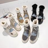 馬丁靴女秋季新款英倫風百搭潮鞋加絨棉鞋短靴秋款 水晶鞋坊