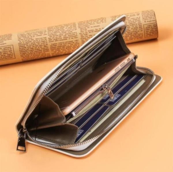 錢包男女長款拉鏈個性男士大容量手拿包青年學生韓版可放手機潮包 霓裳細軟