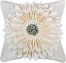 OiseauVoler【日本代購】靠墊套 坐墊套 抱枕套 手工製作 3Dflower 2件套 - 白色