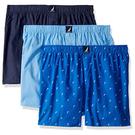 NAUTICA 男三件組藍色棉質四角褲