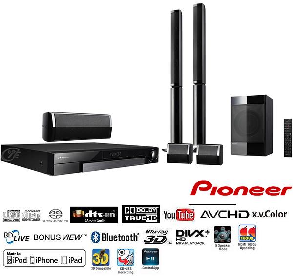 《促銷8折出清+送基本安裝》Pioneer先鋒 MCS-636 5.1聲道藍光家庭劇院組 (公司貨)