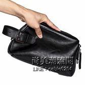 時尚男士小包手包正韓皮質手腕包商務休閒小包男包手抓包手機包