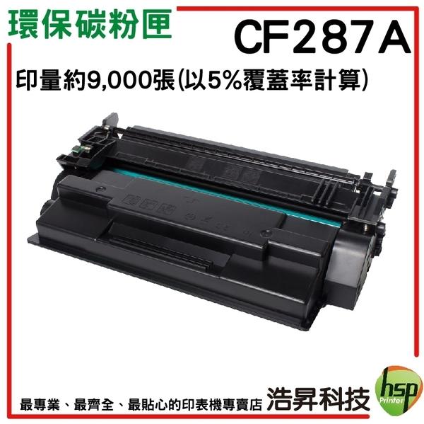 HP CF287A/87A  黑色 環保碳粉匣 二入組  LJ M506dn/M506x/M501dn