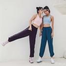 運動褲 寬鬆運動訓練健身褲跑步休閒女長褲子收腿束腳口  618購物節