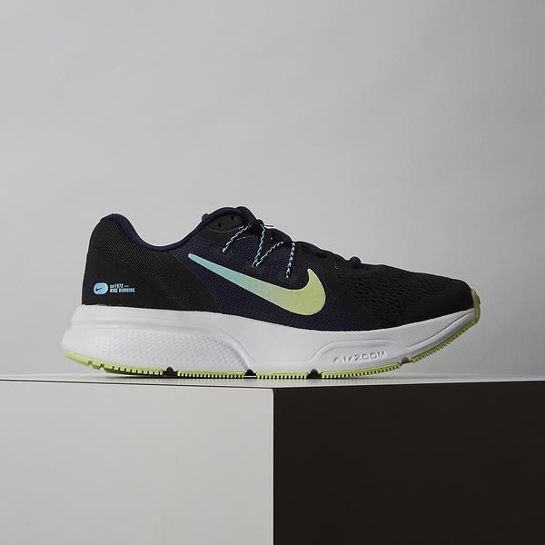 Nike Zoom Span 3 女鞋 黑綠 氣墊 避震 慢跑鞋 CQ9267-013