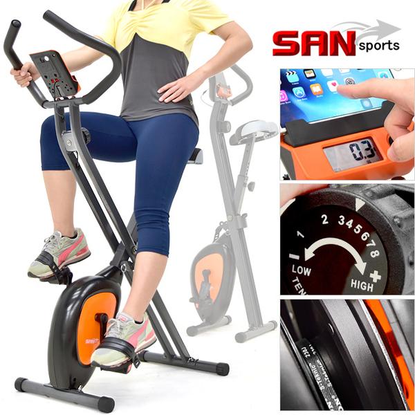 飛輪式室內折疊健身車(超大座椅)全新一代磁控單車美腿機運動山司伯特器材.推薦哪裡買專賣店ptt