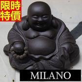 紫砂茶寵 茶具配件-慈祥笑口彌勒佛紫砂擺件68ae21[時尚巴黎]