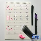 英語棒棒體字母字帖幼兒園兒童啟蒙26個字母凹槽練字帖【英賽德3C數碼館】