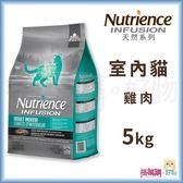 Nutrience紐崔斯『 INFUSION天然室內貓 (雞肉)』5kg【搭嘴購】