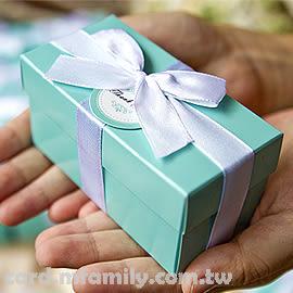 【單售-歐美流行Tiffany經典藍(二格)喜糖盒(DIY含緞帶.小卡-不含內容物)】包裝材料/包裝盒/幸福朵朵