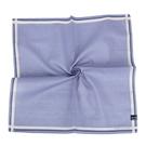 MARIO VALENTINO 簡約LOGO暗紋純綿帕巾(灰藍色)989261
