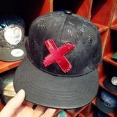 潮流百搭復古個性刺繡嘻哈帽男平沿帽花卉涂鴉牛仔棒球帽 萬客居