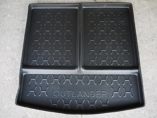 台灣製加高型 三菱 14年 OUTLANDER 7人座 含椅背 專用防水托盤 防水材質 後車箱 後廂墊