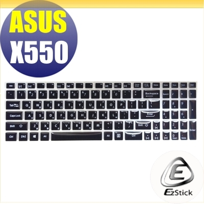【Ezstick】ASUS X550J X550V X550JX X550VX 中文印刷鍵盤膜(台灣專用,注音+倉頡) 矽膠材質