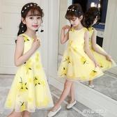 兒童寶寶童裝女童夏裝新款短袖菠蘿印花洋裝時尚公主裙子韓版 多莉絲旗艦店