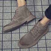 馬丁靴 冬季馬丁靴男高幫工裝中幫戰狼男靴英倫男鞋加絨加厚保暖戰術棉鞋【免運】