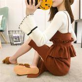 套裝 好康推薦秋冬保暖季新品女裝針織套組連身裙正韓中長版背帶毛衣洋裝兩件式