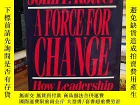 二手書博民逛書店Force罕見For Change: How Leadershi