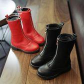 兒童靴子女秋冬新款女童公主鞋加絨小女孩高筒皮靴軟底長筒靴