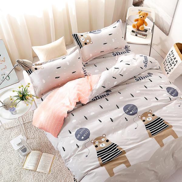 Artis台灣製 - 雙人床包+枕套二入【熊出沒】雪紡棉磨毛加工處理 親膚柔軟