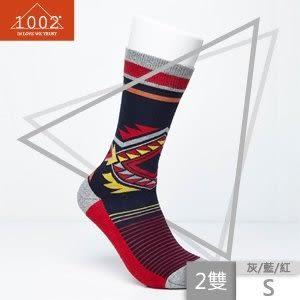 【1002】精梳棉幾何圖形條紋長襪(2雙/S) 01700510-00007