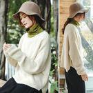 毛衣-訂製混紗羊毛圓領杏白色/設計家 Z8903