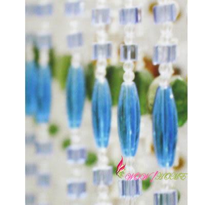 微笑城堡[開運水晶簾80方珠](每條每米135元)窗簾 簾(奢華訂製)(全國最低價)(最后促銷)10條起售