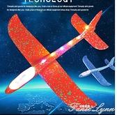 大號手拋飛機玩具發光戶外滑行飛機兒童回旋投擲滑翔泡沫飛機模型 范思蓮恩