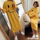 睡裙女秋冬長款學生韓版可愛甜美卡通寬鬆大碼長袖睡衣春秋可外穿 青木鋪子