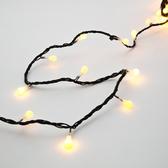 180燈LED圓球跑馬燈 暖白(黑線)