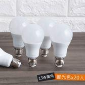 (箱)特力屋13W廣角LED球泡燈- 晝光色 20入