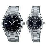 CASIO 手錶專賣店 MTP-V005D-1B2 + LTP-V005D-1B2 簡約指針對錶 日常生活防水 不鏽鋼錶帶 三摺錶扣