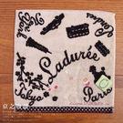 【京之物語】LADUREE都會風馬卡龍小方巾
