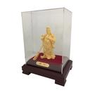 Blissin鉑丽星 黃金飾品擺件-武關公 1尊含玻璃框禮盒裝-紫銅足金鑄件 高貴正義霸氣 武財神