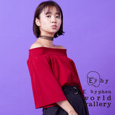 ❖ Hot item ❖ 甜美V領袖縮口襯衫上衣 - E hyphen world gallery