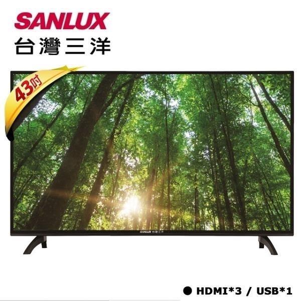【南紡購物中心】【SANLUX 台灣三洋】 43吋FHD液晶顯示器 SMT-43MA5 (含運不裝)