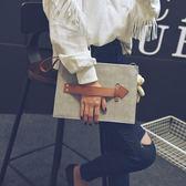 手拿包信封包新品正韓時尚手拿包簡約單肩斜挎女包