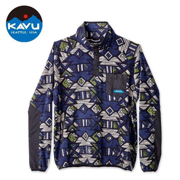 【西雅圖 KAVU】Teannaway 保暖刷毛半開襟上衣 西岸藍 #5065