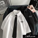 襯衫男潮流夏季dk制服短袖韓版寬鬆jk襯衣2020情侶帥氣領帶上【快速出貨】