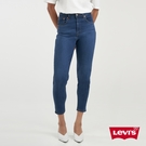 Levis 女款 高腰修身窄管牛仔長褲 / 精工深藍染水洗 / 天絲棉 / 彈性布料 / 及踝款
