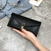 長夾新款女士錢包女長款復古包蓋式三折錢夾大容搭扣多卡位零錢包 新品