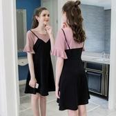 大尺碼女裝夏裝200斤胖mm寬鬆胖妹妹顯瘦遮肚子連身裙 折扣好價