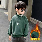 冬款男寶寶男童裝冬天加厚上衣 韓版男孩兒童冬天加絨男生衛衣 男中大童冬裝保暖長袖打底衫