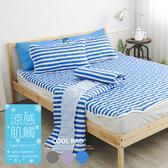 COOL涼感平單式6尺雙人加大針織涼墊-藍(不含枕墊)台灣製|保潔墊|TTRI涼感測試|SGS檢驗