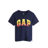 Gap男幼童 Logo漸層棉質舒適圓領短袖T恤 545793-海軍藍