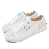 Fila 休閒鞋 C318V 白 藍 帆布鞋 女鞋 基本款 韓系 麂皮設計 【ACS】 5C318V143