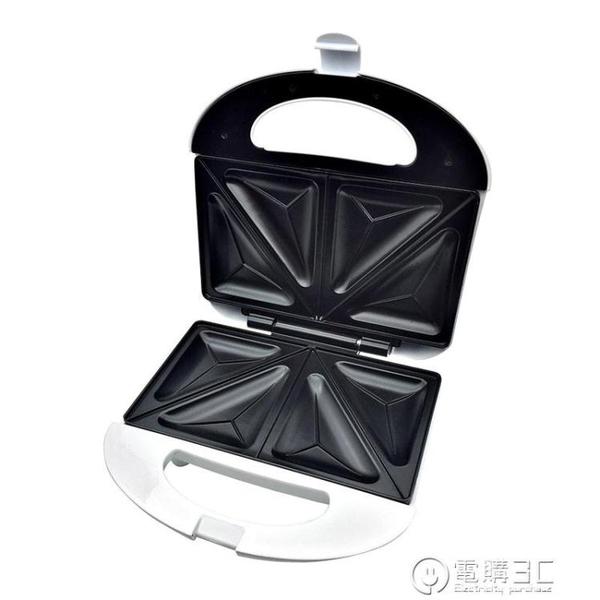 三明治機早餐機帕尼尼機烤面包片機吐司機家用煎蛋煎牛排雙面加熱WD 電購3C