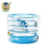 兒童游泳池 馬博士嬰兒游泳池充氣式家用  嬰幼兒童寶寶海洋圓形戲水池大號igo 歐萊爾藝術館