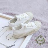 兒童帆布鞋男童鞋夏秋季新款女童小白鞋親子一腳蹬寶寶餅干鞋